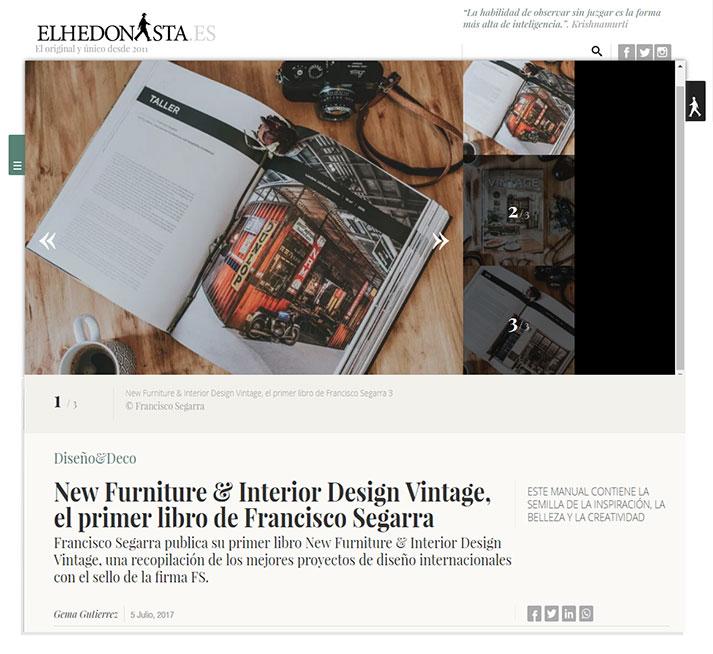 Lo último en Diseño & Deco. New Furniture & Interior Design Vintage, el primer libro de Francisco Segarra.