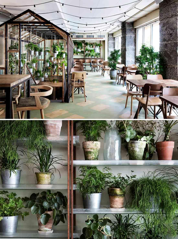 Ideas y tendencias de decoración para restaurantes que rinden tributo a la naturaleza.
