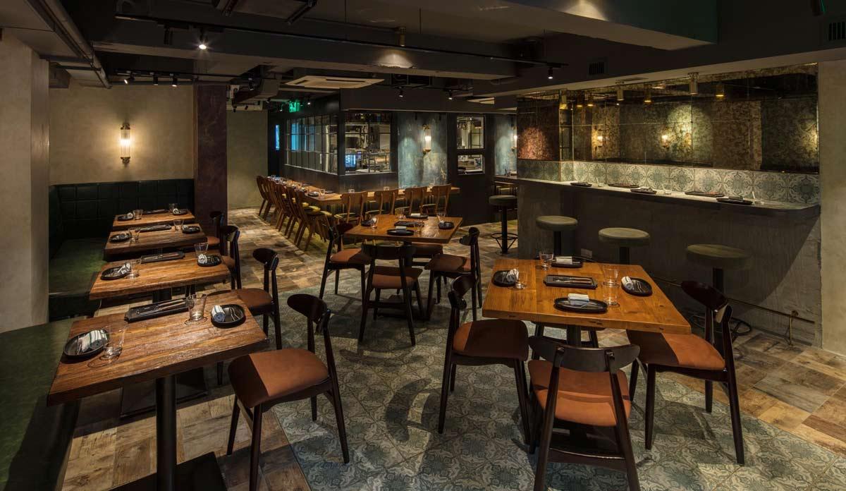 Suelos para un interiorismo puntero en Hong Kong. MeATS. El nuevo restaurante de Pirata Group.