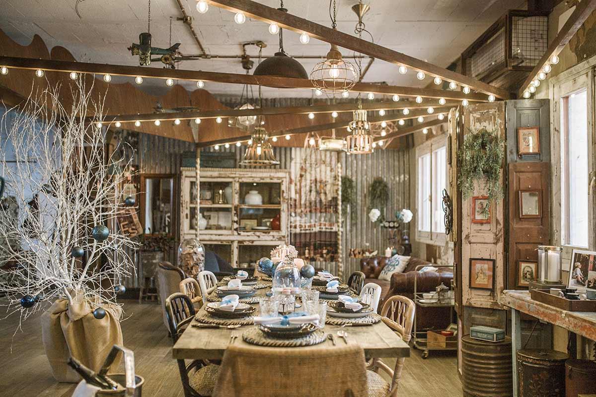 Decoración del showroom navideño de la firma Francisco Segarra.