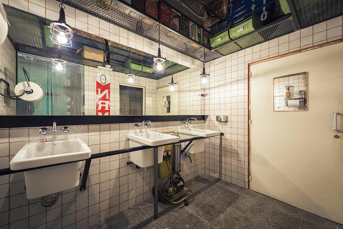 Baños espectaculares en el diseño de restaurantes.