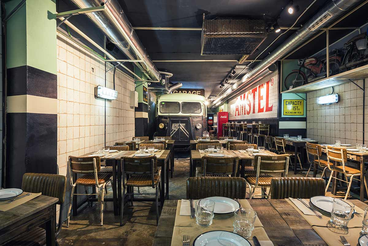 Nº5 Burger Garage. El espíritu más valiente de Francisco Segarra en el diseño de restaurantes.