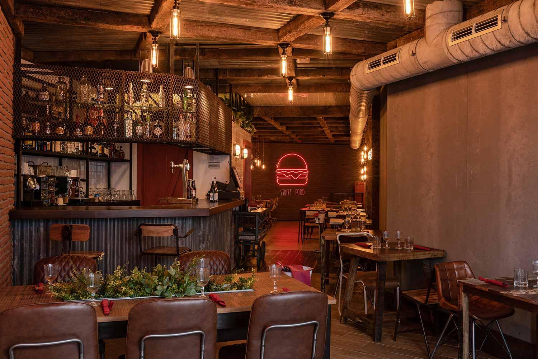 Proyectos de interiorismo para restaurantes. Street Food.