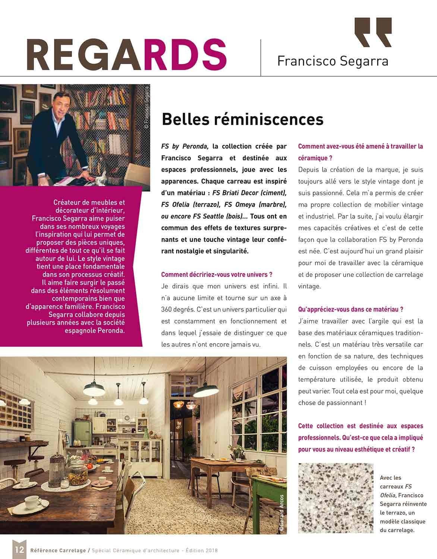 FS by Peronda. Diseños cerámicos Francisco Segarra.