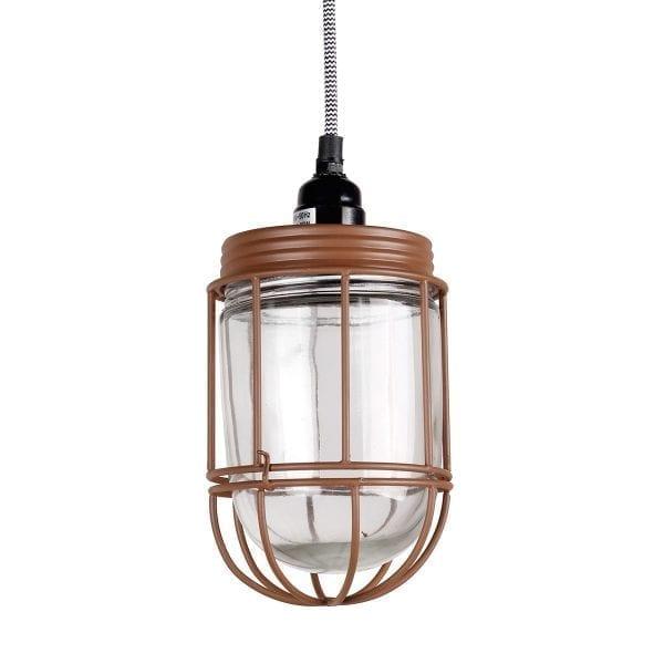 Lámpara industrial para cafetería.