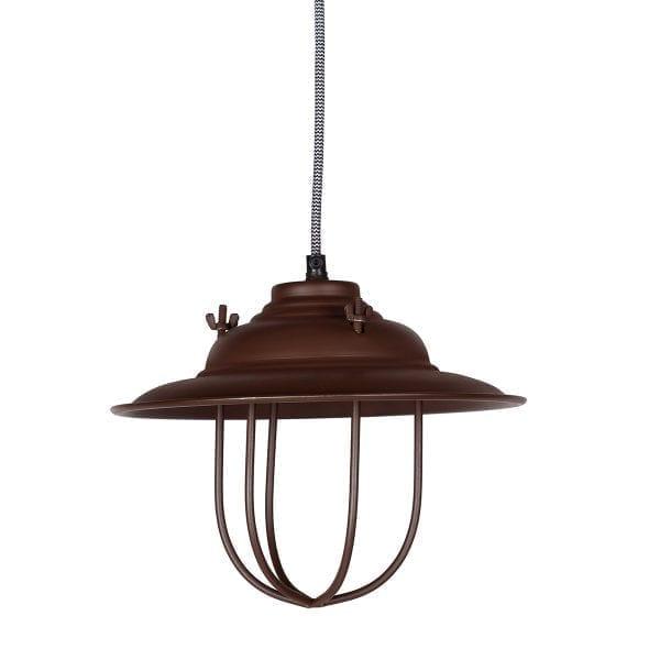 Lámpara de suspensión de estilo vintage industrial.