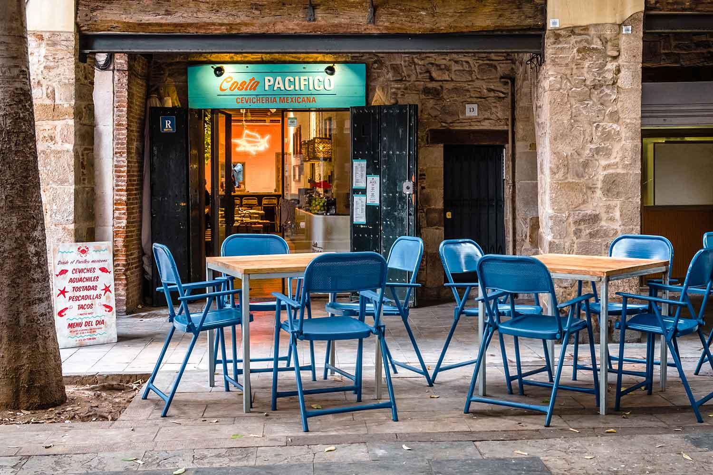 Sillas terraza hostelería de la firma Francisco Segarra.