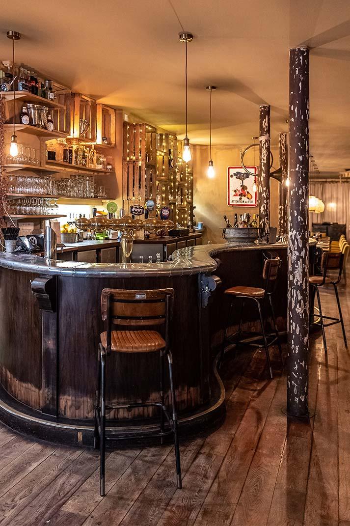 Decoración y diseño de restaurantes vintage.