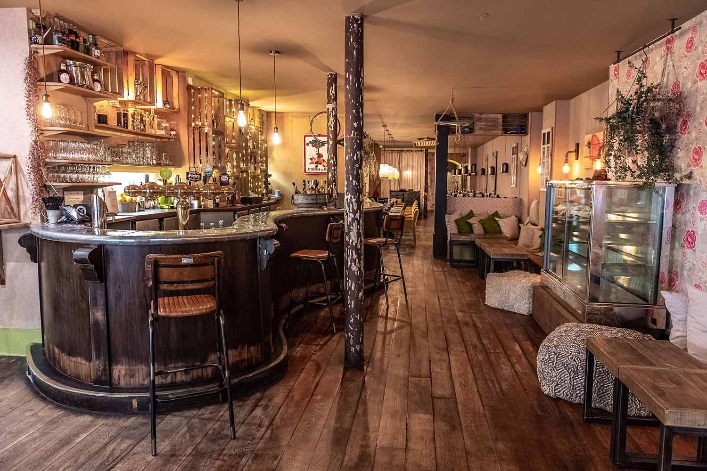 Diseño vintage restaurante Les Cuivres.