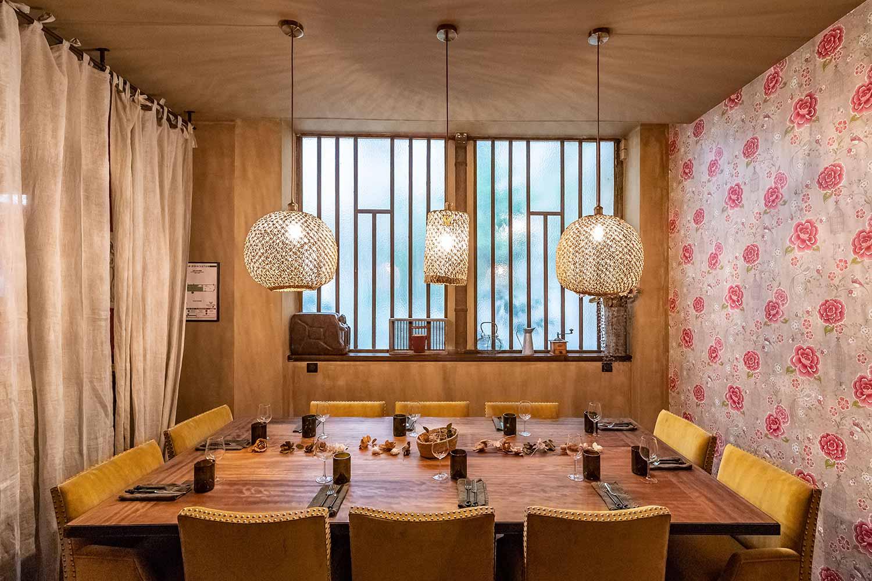 Diseño restaurante vintage Les Cuivres.