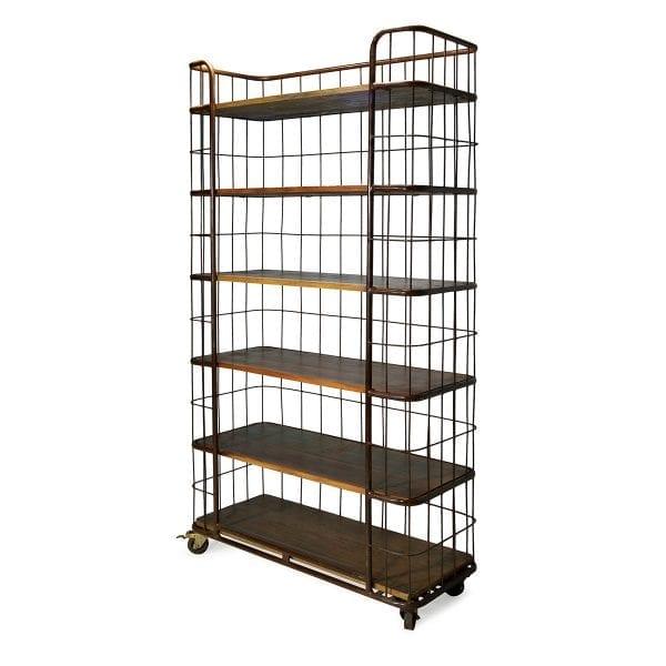 Imagen de las estanterías para tiendas y comercios vintage.