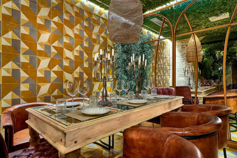 Estilo vintage en el interiorismo del restaurante Senza.