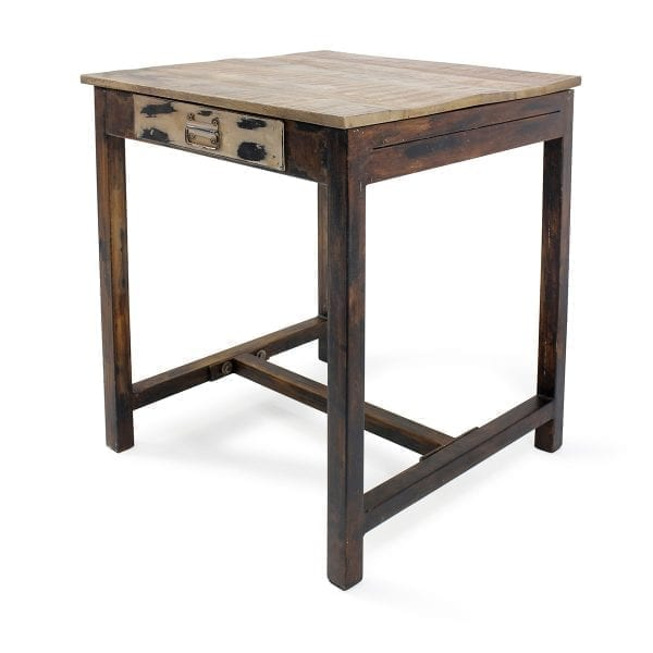 Mesas para bar en madera de mango.