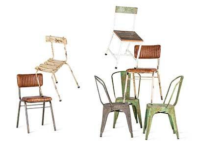 Muebles de estética vintage.