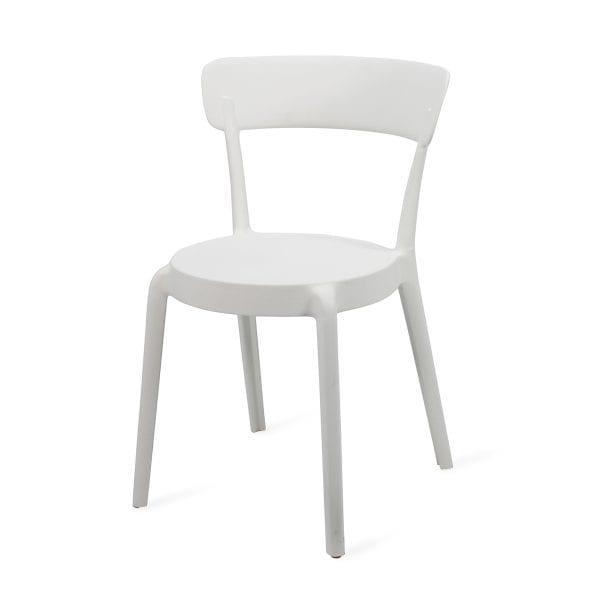Chaise extérieur de restaurant blanche.