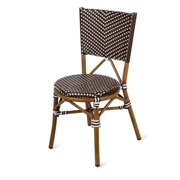 Chaise pour terrasse de bistrot ou bar.