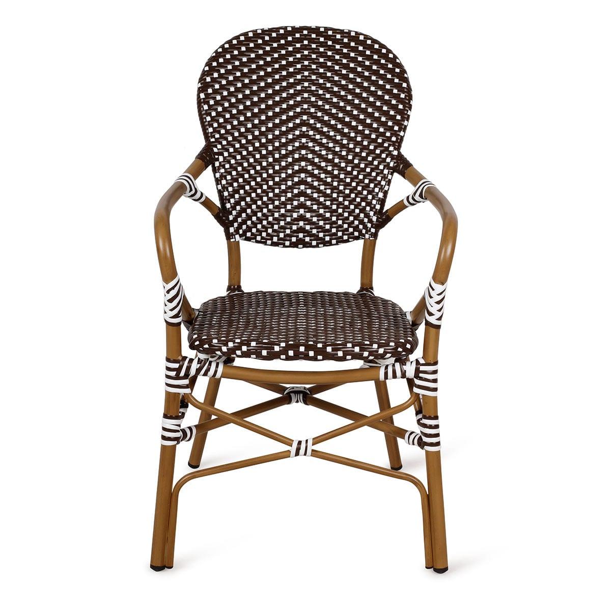 Chaise En Osier Avec Accoudoir — Lamichaure.Com