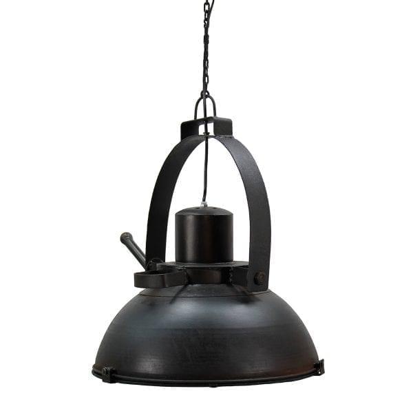 Lámparas de suspensión Belgas tono negro.