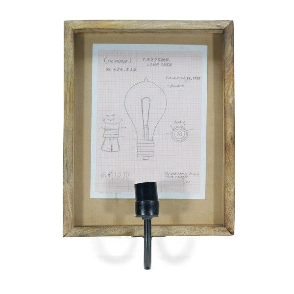Imagen de las lámparas decorativas de pared para iluminación interior.