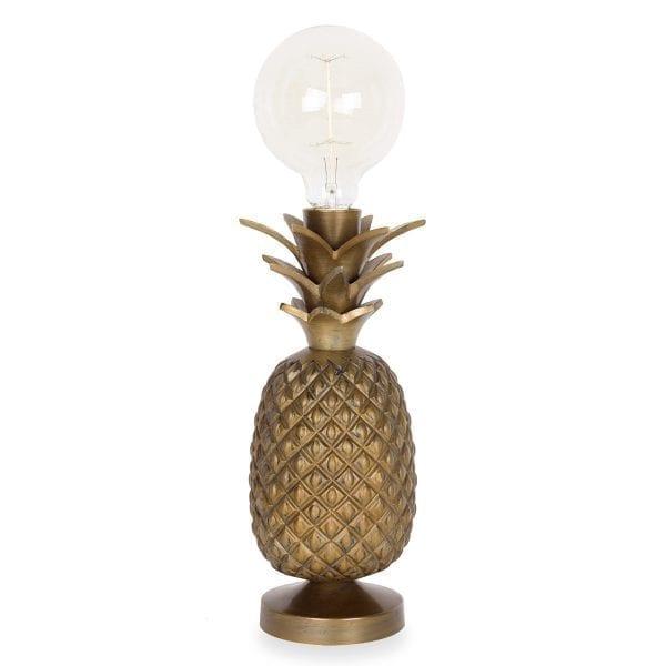 Lámpara Piña dorada.