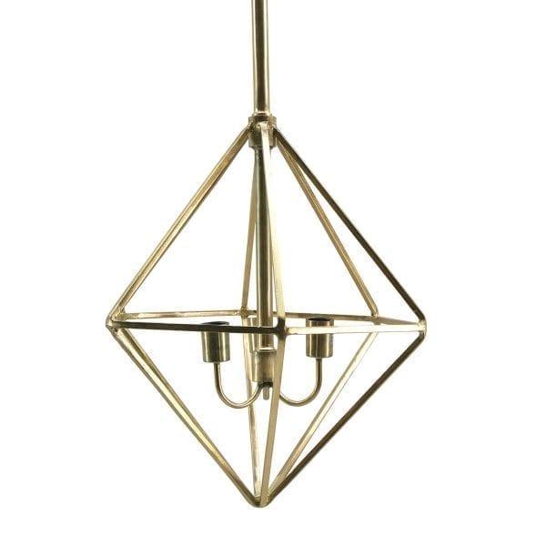 Lámparas de techo diseño retro, doradas, modelo Oria.