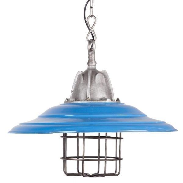 Lámparas Samira azul. Diseño moderno.