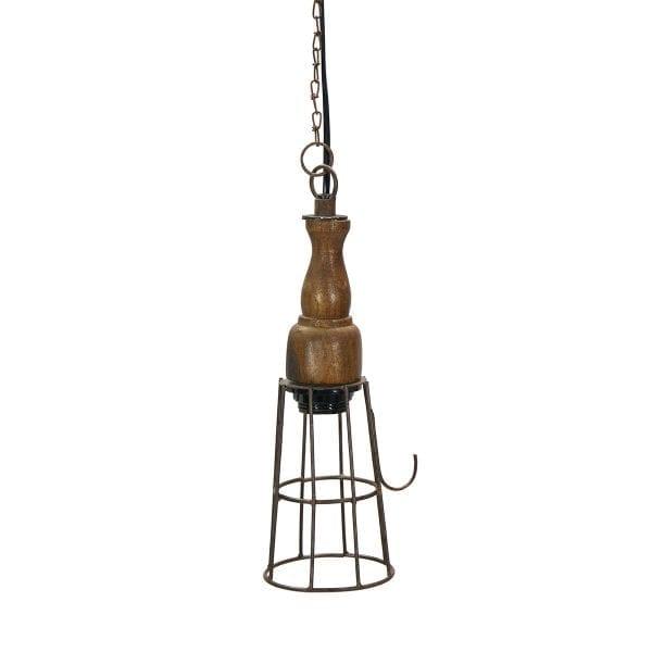 Photo.Lampe industrielle design pour les cafétérias.