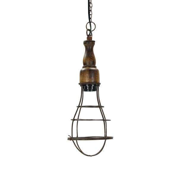 Photo.Lampe industrielle design pour les commerces.