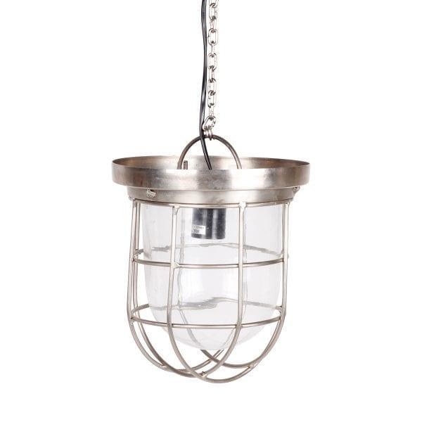Lampe industrielle pour agencement de restaurant.