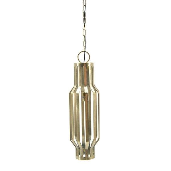 Lampe doré de plafond pour espaces industriels.