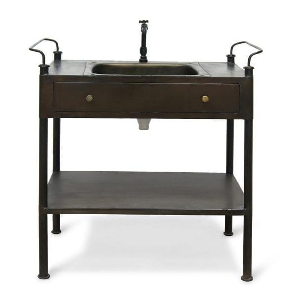Imágenes del lavabo con mueble Brezo.