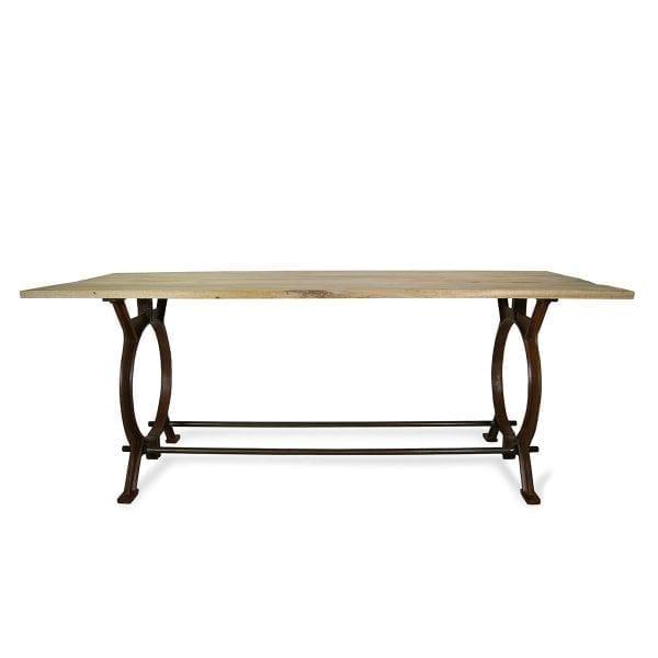 Mesas comedor con pie de hierro modelo ADHARA.