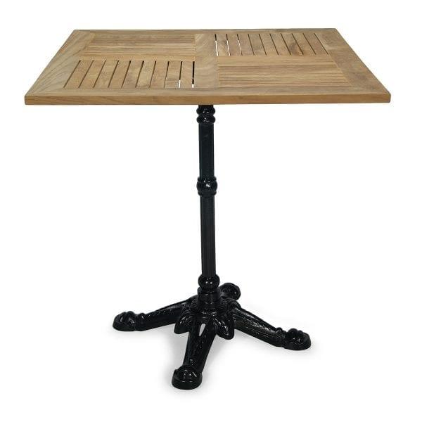 Photo.Table de terrasse avec le dessus carré