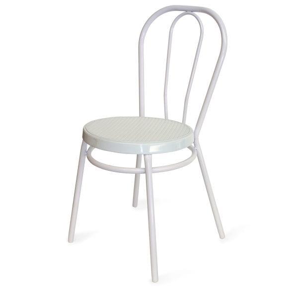 Imágen silla Bistrot metálicas tono blanco de venta en Francisco Segarra.