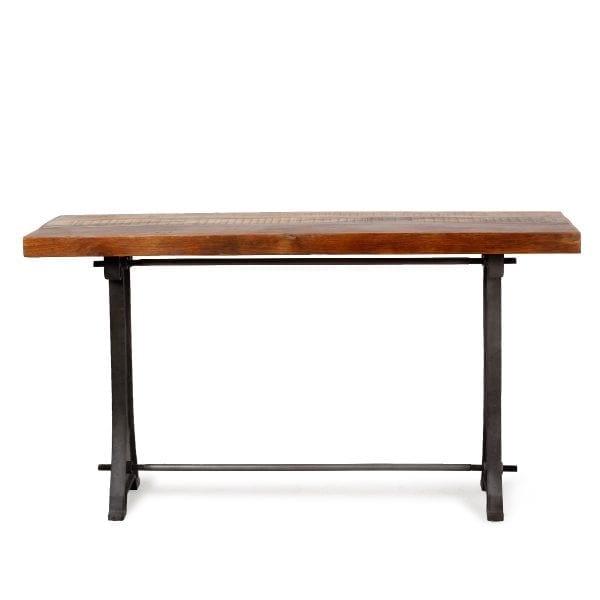 Table console en bois.