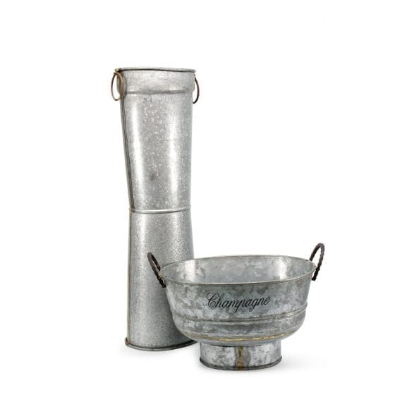 Cubiteras para champagne con pedestal.
