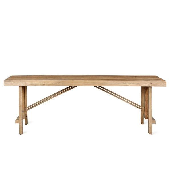 Grande table de bar en bois.