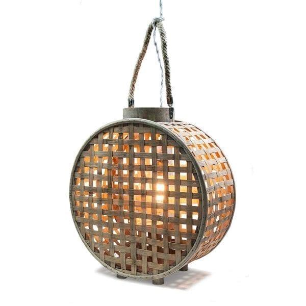 Lámpara de bambu modelo IRAZU.
