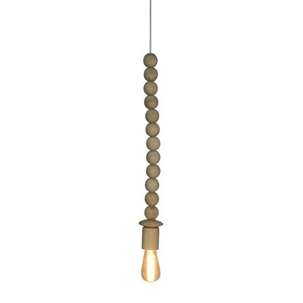 Lámparas de cuentas de madera.