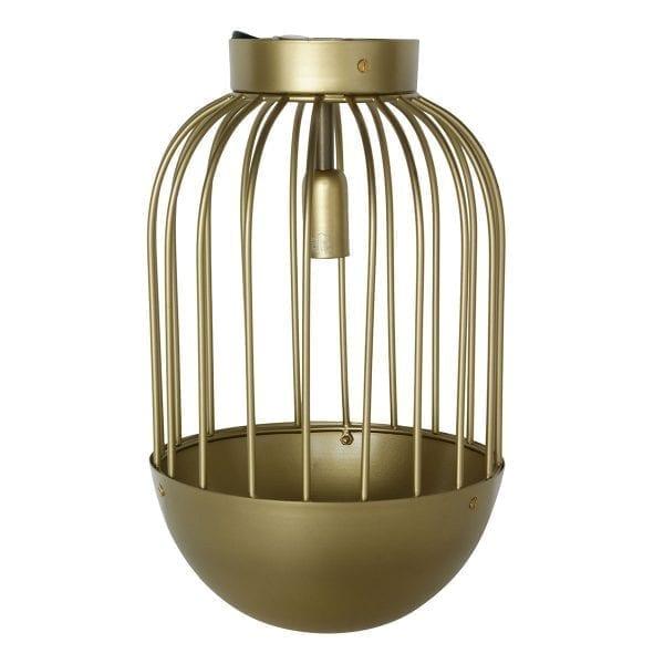 Foto de la lámpara de techo vintage modelo PEGASO ELIPTICAL DORADA.