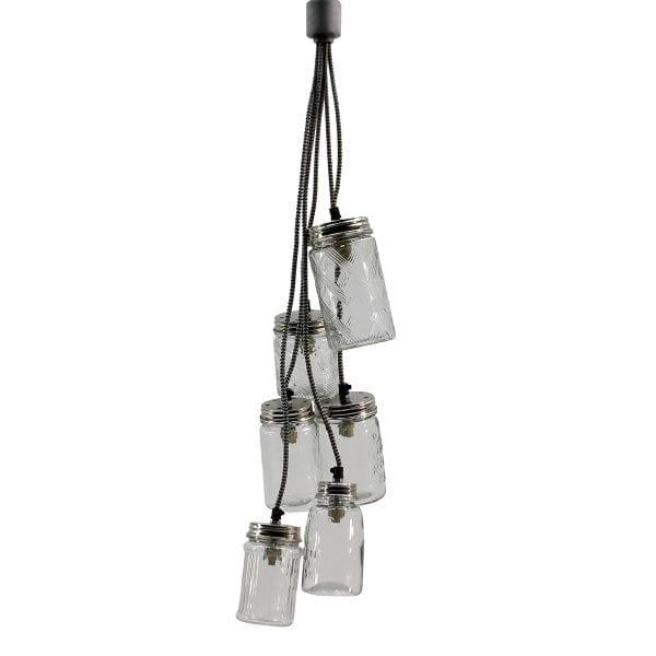 Suspension luminaire pour bar industriel.