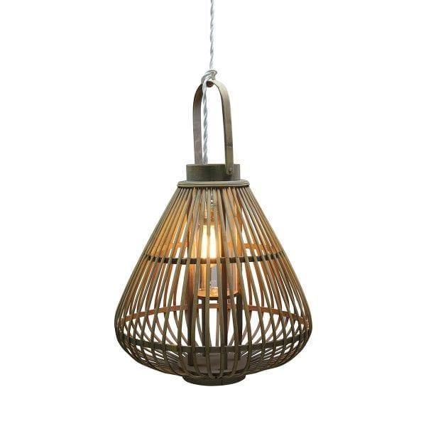 Lampes en bambou.