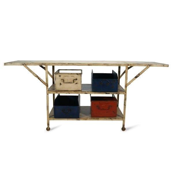 Mesas consolas extensibles vintage.