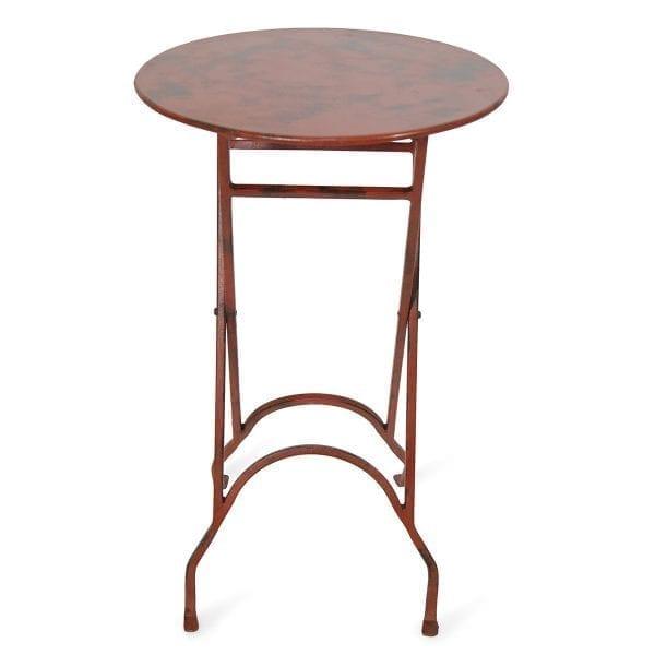Fotos. Mesas auxiliares plegables redondas rojas Anolis.