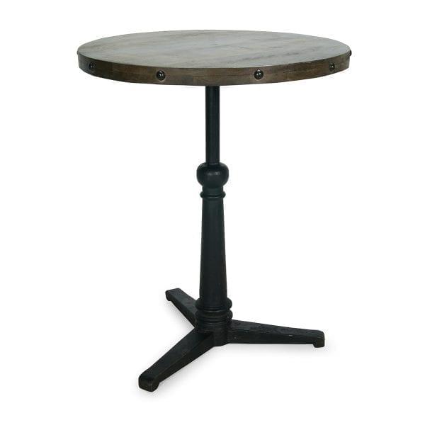 Mesas Aroa. Mesas de bar redondas robustas.