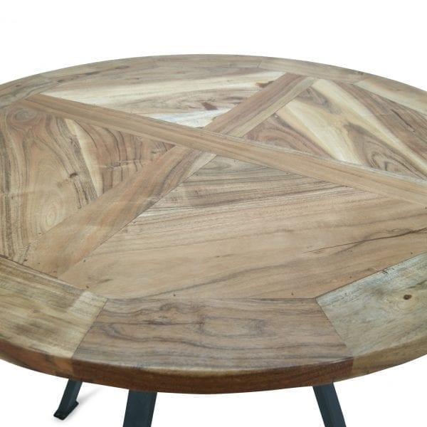 Mesas de bar en madera de mango.