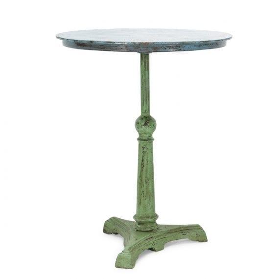 Mesas de bar redonda verde.