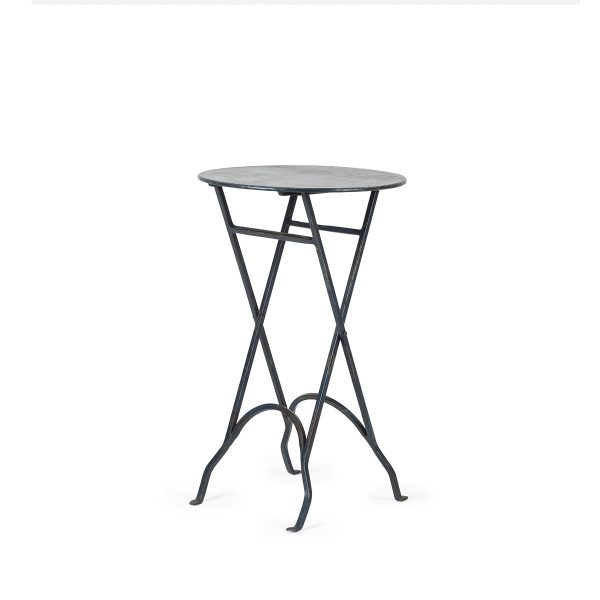 Mesas plegables redondas.