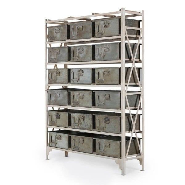 Meuble à tiroirs pour rangement.