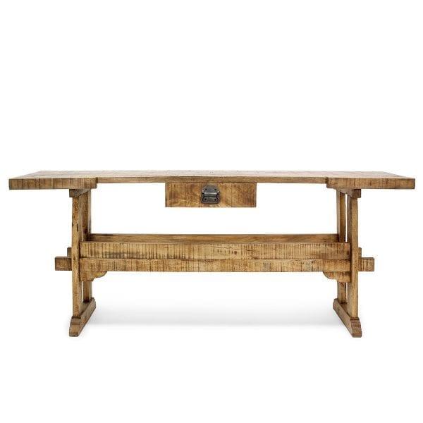 Meuble de restaurant et de bar en bois.